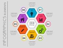 Красочные элементы infographics дела Стоковое Изображение