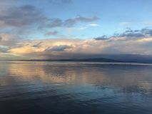 Красочные beachy небеса стоковое фото rf