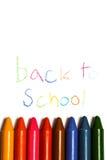 Красочные crayons в ряд Стоковые Изображения