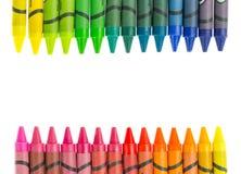 Красочные crayons на белой предпосылке Стоковые Изображения