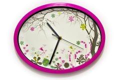 Красочные desing настенные часы Стоковые Фотографии RF
