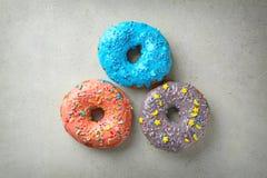 Красочные donuts с брызгают Стоковая Фотография