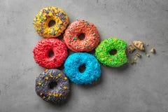 Красочные donuts с брызгают Стоковые Изображения RF