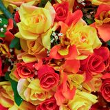 Красочные handmade поддельные розы Стоковые Фотографии RF