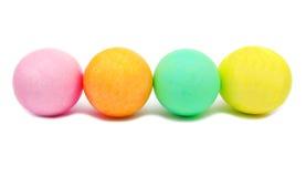 Красочные handmade украшенные изолированные пасхальные яйца Стоковое Фото