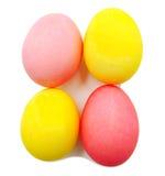 Красочные handmade украшенные изолированные пасхальные яйца Стоковая Фотография RF