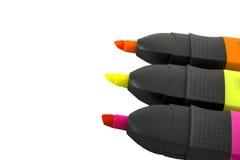 Красочные highlighters Стоковые Фотографии RF