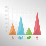 Красочные infographic элементы диаграммы с треугольником Стоковая Фотография