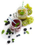 Красочные smoothies, над взглядом Стоковое Изображение