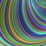 Красочные striped кривые - абстрактный дизайн фрактали иллюстрация вектора