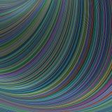 Красочные striped кривые - предпосылка фрактали бесплатная иллюстрация