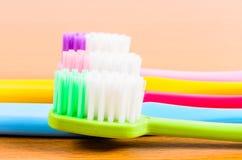Красочные toothbrushs Стоковое Изображение