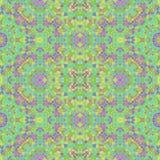 Красочный абстрактный калейдоскоп с много красит и калейдоскопом орнаментов, зеленых и фиолетовых иллюстрация вектора