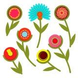 Красочный абстрактный комплект цветка весны также вектор иллюстрации притяжки corel Стоковое Фото