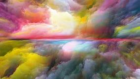 Красочный абстрактный ландшафт стоковое изображение rf