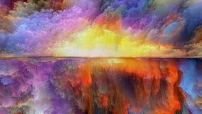 Красочный абстрактный ландшафт стоковая фотография