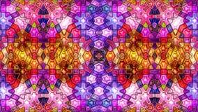 Красочный абстрактный цикл петли видео 3D калейдоскопа мозаики музыки цвета безшовный сток-видео