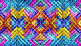 Красочный абстрактный цикл петли видео 3D калейдоскопа мозаики музыки цвета безшовный акции видеоматериалы