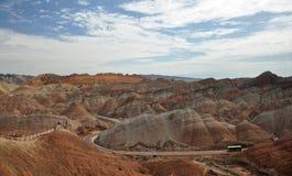 Красочный ландшафт Danxia, очень красивый пейзаж Стоковые Фото