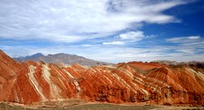 Красочный ландшафт Danxia, очень красивый пейзаж Стоковая Фотография