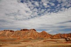 Красочный ландшафт Danxia, очень красивый пейзаж Стоковое Фото
