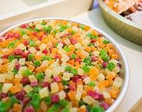 Красочный ассортимент candied плодоовощей Стоковые Фотографии RF