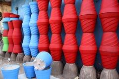 Красочный бак для заводов Стоковые Фотографии RF