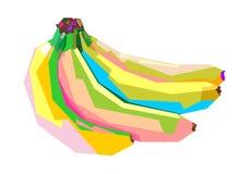 Красочный банан в стиле wpap иллюстрация штока