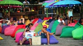 Красочный бар пляжа Стоковые Изображения