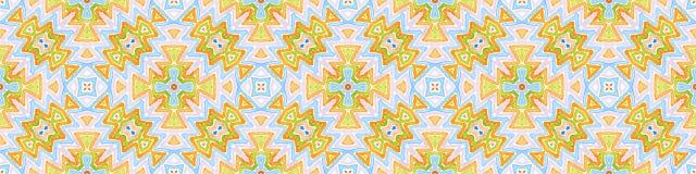 Красочный безшовный перечень границы Геометрическое Waterco иллюстрация вектора