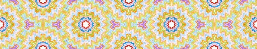 Красочный безшовный перечень границы r иллюстрация штока