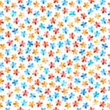 Красочный безшовный цветочный узор Стоковое фото RF