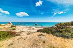 Красочный берег в побережье Scoglio di Peppino Стоковое Фото