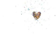 Красочный брить карандаша аранжирует к форме сердца Стоковая Фотография RF