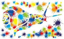 Красочный брызгает в форме улиток Стоковые Фото