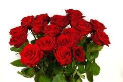 Красочный букет цветка от красных роз изолированных на белизне Стоковое Фото