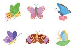 Красочный вектор бабочек Стоковые Изображения