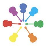 Красочный вектор гитары Стоковое фото RF