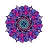 Красочный вектор мандалы изолированный дальше иллюстрация штока