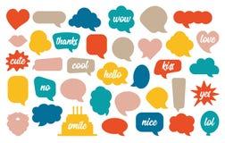 Красочный вектор пузыря речи установил в стиль мультфильма бесплатная иллюстрация