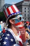 Красочный вентилятор на футбольном матче Стоковая Фотография