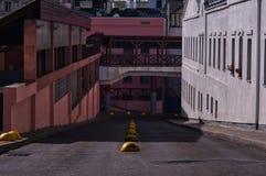 Красочный взгляд городских трущоб стоковое фото rf