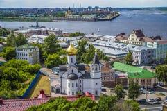 Красочный взгляд лета Nizhny Novgorod, России стоковые изображения rf
