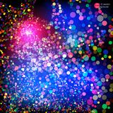 Красочный взрыв confetti также вектор иллюстрации притяжки corel Стоковая Фотография RF