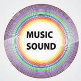 Красочный винил с звуком музыки слов Дизайн цвета Illu вектора бесплатная иллюстрация