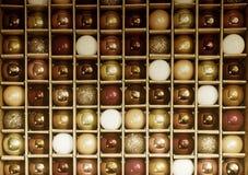 Красочный вид решетки предпосылки винтажных стеклянных декорумов праздника Стоковая Фотография RF
