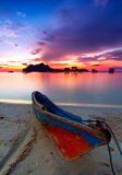 Красочный восход солнца на острове Maiga Стоковая Фотография