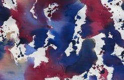 Красочный выплеск на Textil стоковая фотография