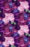 Красочный голубой и фиолетовый вектор картины роз Дизайны вертикальной предпосылки ультрамодные Стоковые Изображения RF