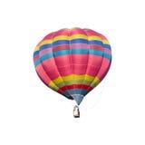Красочный горячий воздушный шар на белой предпосылке Стоковые Фотографии RF
